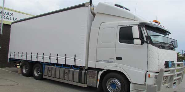 Truck with curtainsiders in Perth