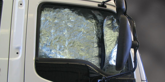 Radiant heat shield in a Perth car
